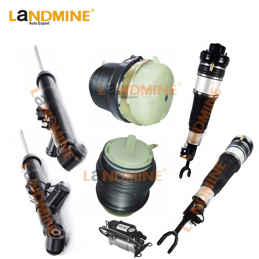 Free Shipping 7PCS Rear Shock Front Air Spring Air Compressor Fit Audi A6 C6 4F0513032H(05312L) 4F0616040AA(39AA) 4F0616005E