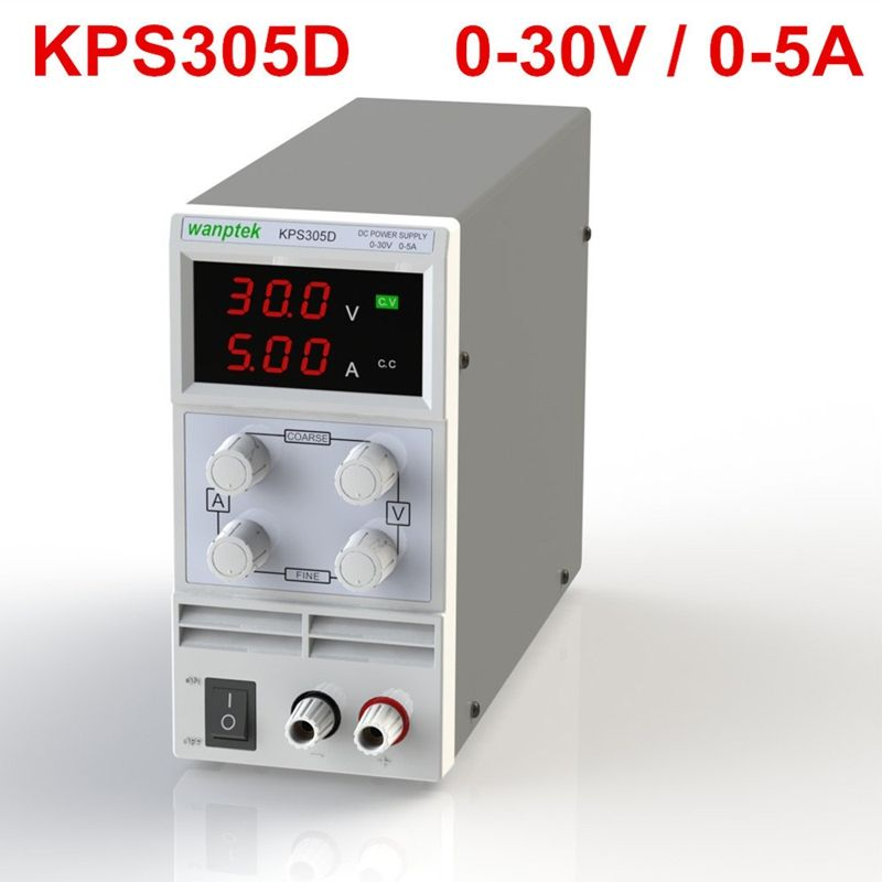 New Updated KPS305D Mini Switching Regulated Adjustable DC Power Supply SMPS Single Channel 30V 5A Variable