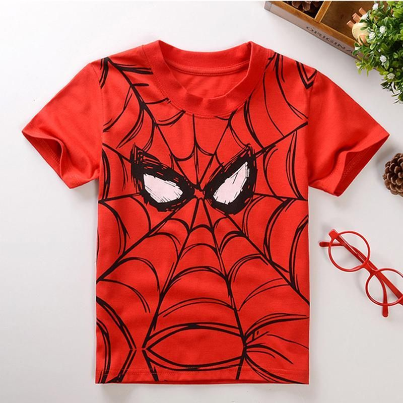 Summer Style Cotton Spiderman Boys Kids Clothing Batman Tee Boys Outwear Child's Clothes Cool Fashion New Arrival