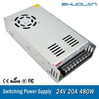 Interrupteur D'alimentation pour Led bande Adaptateur AC 110/220 V à DC 24 V 20A 480 W Transformateur
