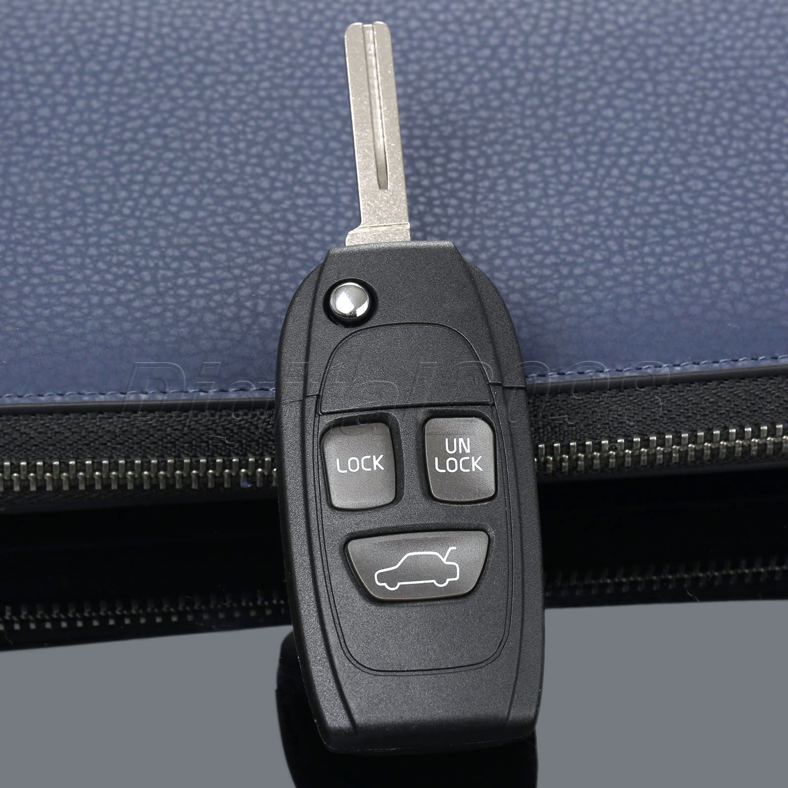 Yetaha Replacement Key Shell Remote Case Fob Folding For Refit VOLVO S40 V40 S60 S80 S90 XC70 XC90 C70 V70 V90 850 960 3 Buttons