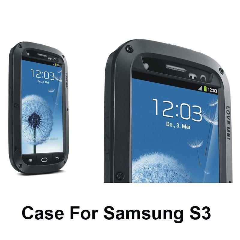 Meilleur qualité 5 couleurs temps/dirt/choc preuve en métal alliage téléphone intelligent pour galaxy s3 iii i9300 case couverture