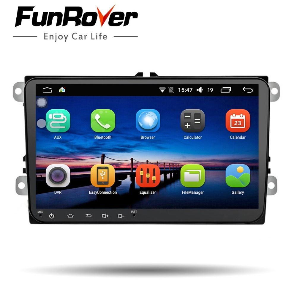 Funrover 9''Android8. 0 2 dinCar DVD GPS Radio video für VW Passat CC Polo golf5 6 Touran EOS T5 Sharan Jetta Tiguan WIFI USB BT