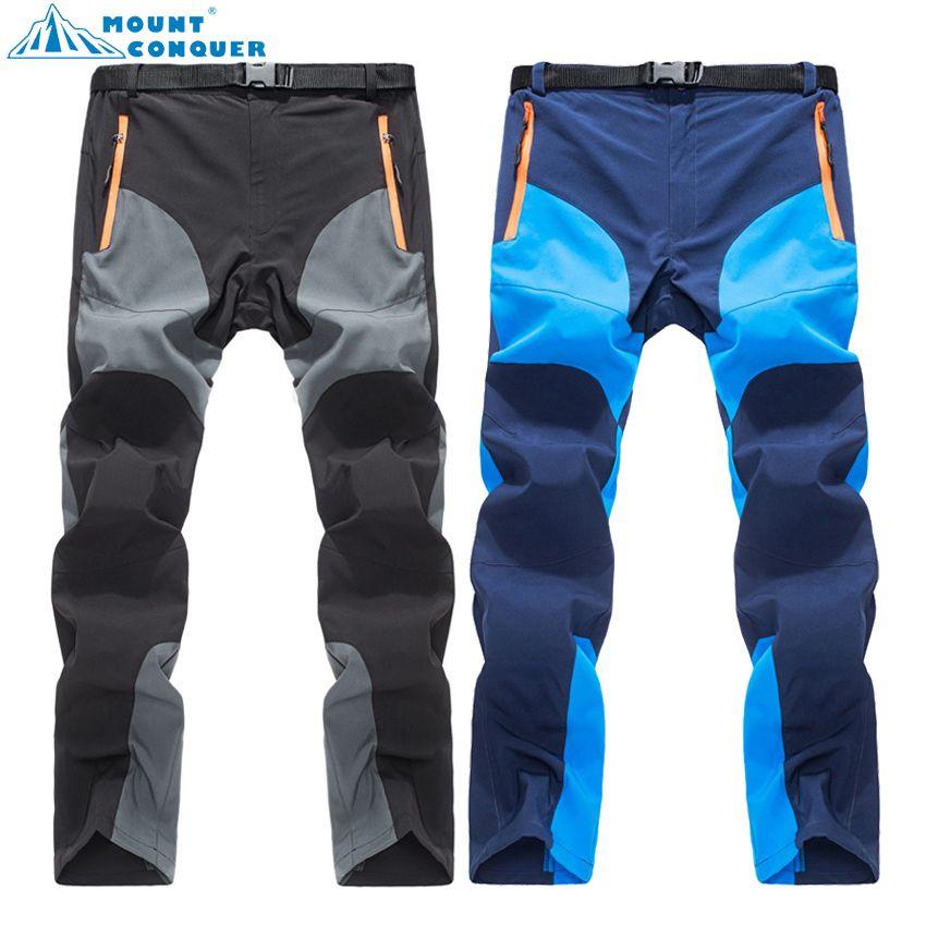 MOUNT CONQUER 2017 pantalons d'été à séchage rapide pour hommes Sports de plein air respirant randonnée Camping Trekking pêche escalade pantalon