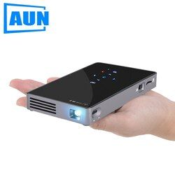 AUN Android 7,1 DLP proyector D5S, WIFI incorporado, Bluetooth Mini proyector (opcional D5 proyector portátil) cine en Casa