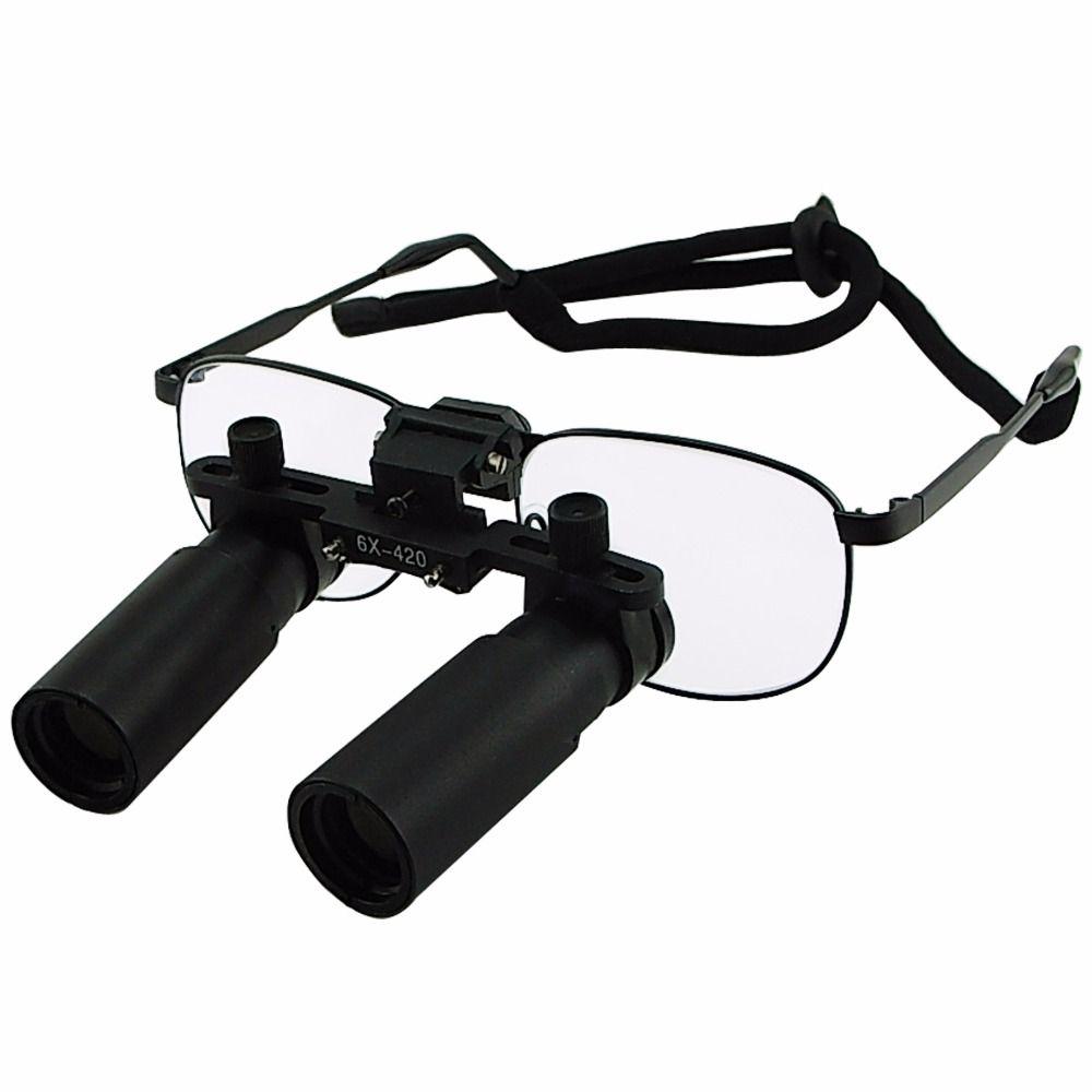 Keplerian Style 6.0x Magnification Binocular Dental Loupes Surgical Medical Dentistry Frame 420mm Working Distance