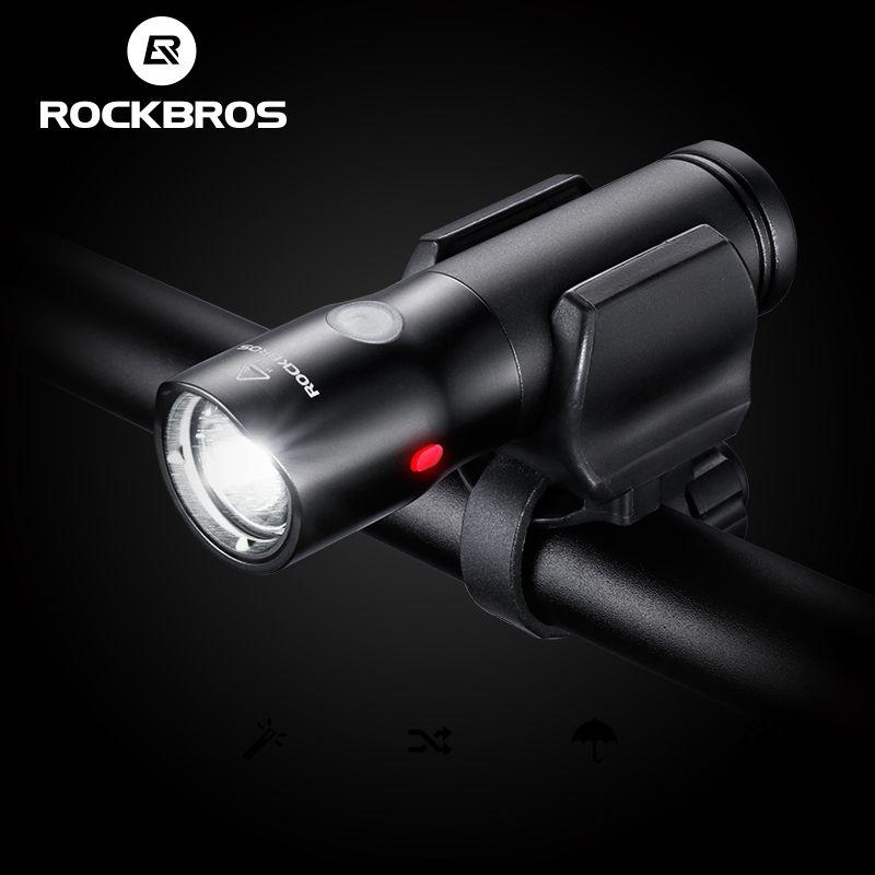 ROCKBROS Vélo Lumière Puissance Banque Étanche USB Rechargeable Vélo Phare Côté Avertissement lampe de Poche 700 Lumen 2000 mah 6 Modes