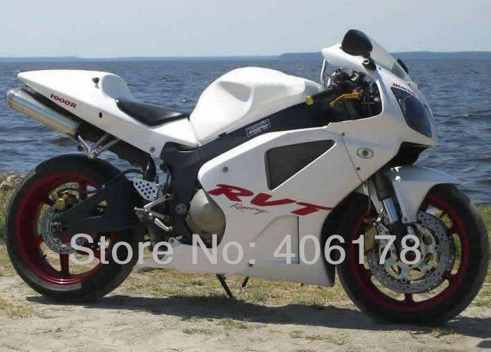 Heiße Verkäufe, 00 01 02 03 04 05 06 VTR1000 RC51 SP1 SP2 verkleidung kit Für Honda Rc51/RVT1000RR 2000- 2006 weiß Motorrad Verkleidungen