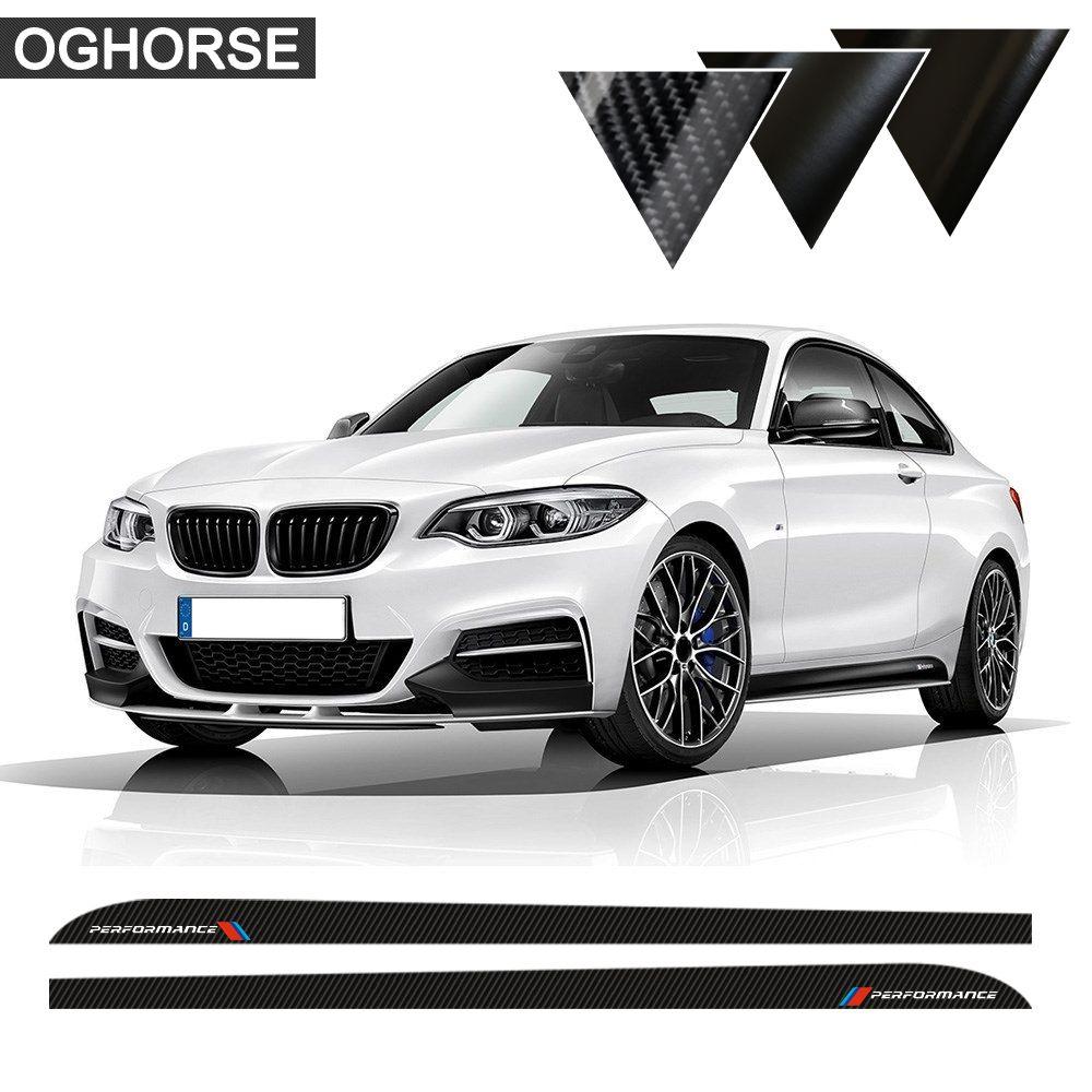 Autocollants d'autocollant de rayure de course de seuil de jupe latérale de porte de Performance de M pour les accessoires de BMW série 2 F22 F23 220i 228i 235i