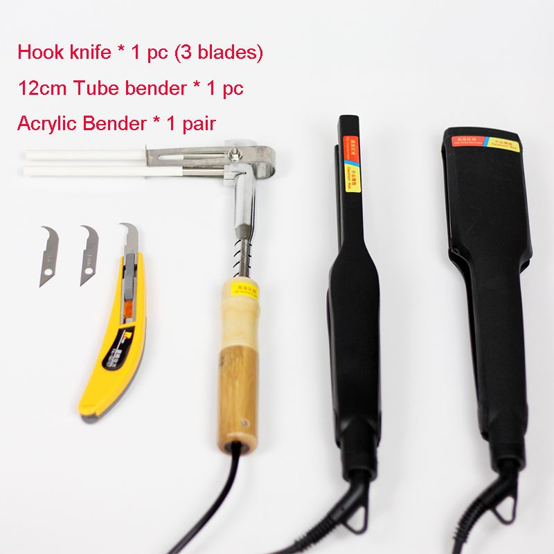 Acrylic Bender Device Channel Letter hot bending machine Arc/Angle Shape Bender Tool 1 pair+hook knife+12cm tube bender(220V)
