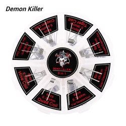 Original 48pcs Demon Killer 8 In 1 Coil Kit with Hive/Quad/Tiger/Clapton/Mix Twisted/Flat Twisted/Fused/Alien Coil E-cig Core