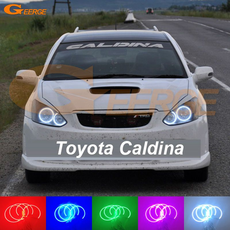 For Toyota Caldina T240 2002 2003 2004 Excellent Multi-Color Ultra bright RGB LED Angel Eyes kit Halo Rings