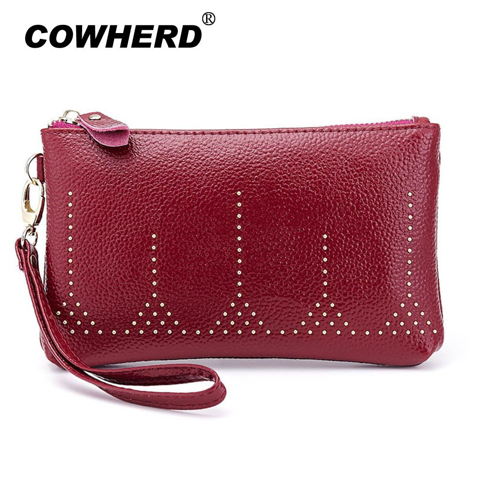 5 Color Women Clutch Bag 2018 Black Clutch Purse Evening Bags Womens Brand Handbag Real Cow Leather Purse Day Clutches 626