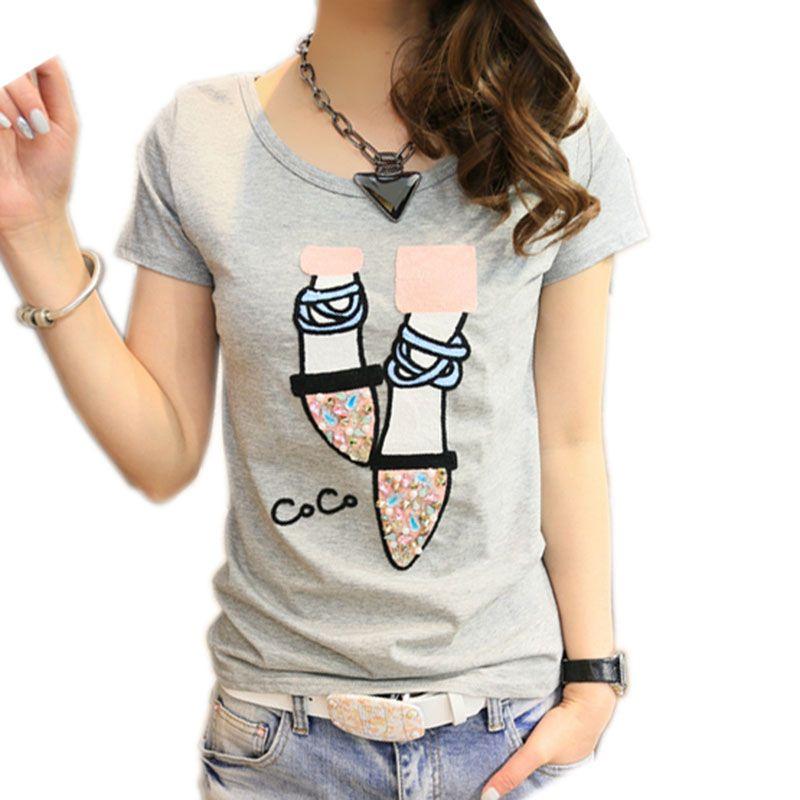 BOBOKATEER t-shirt femme t-shirt haut en coton t-shirt femme kawaii t-shirt haut pour femme t-shirts d'été camisetas mujer verano 2019
