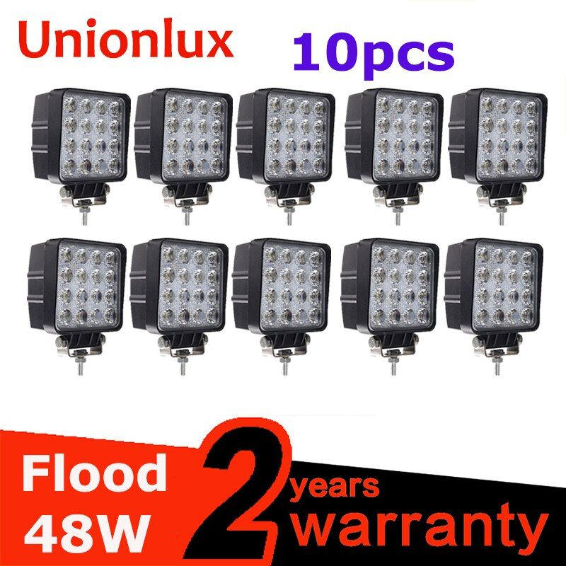 10pcs 4inch 48W LED Work Light Lamp Car 4x4 ATV LED Diving Working Lights Truck 12V Driving Fog Spotlights Tractor Offroad