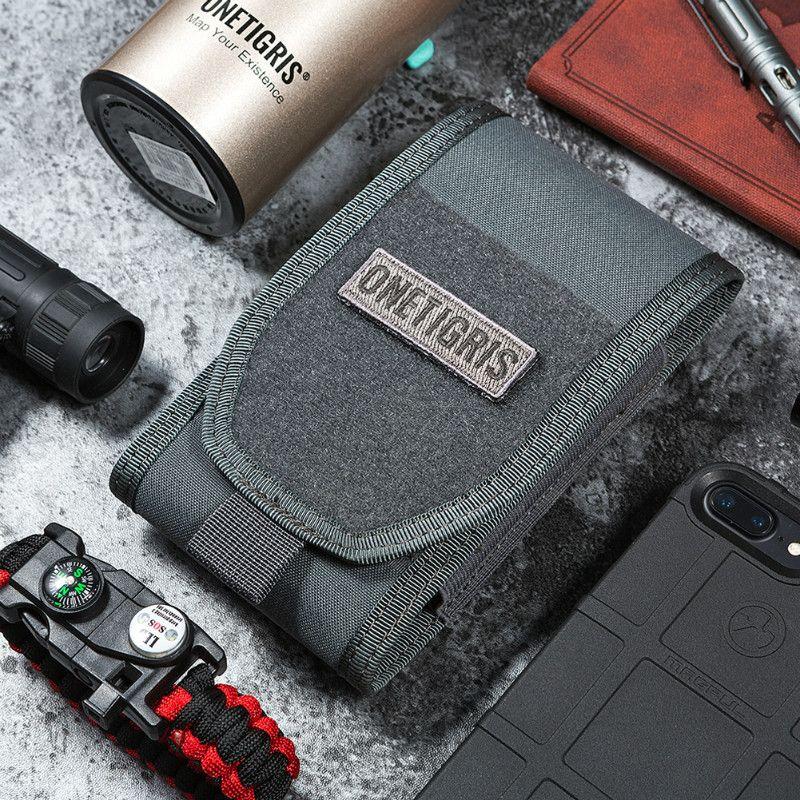OneTigris MOLLE tactique chasse taille sac support de smartphone pochette pour iPhone6s SE iPhone6 Plus 8 Plus iPhone X