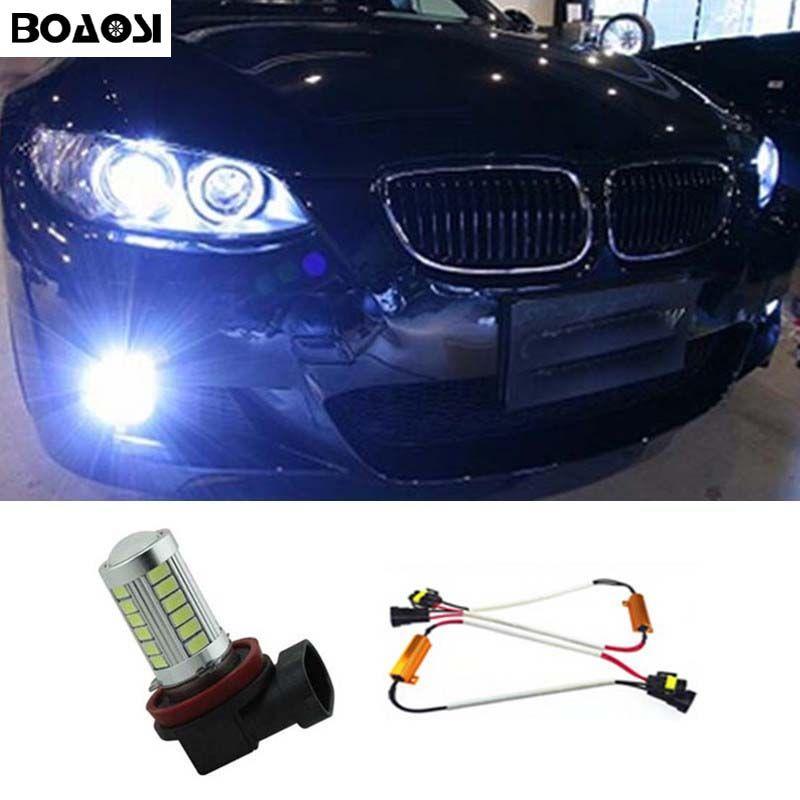Boaosi 1x H11 5630smd светодиодные противотуманные DRL Лампочки нет ошибок лампа для bmw E71 X6 M E70 X5 E83 f25 X3 автомобиля Интимные аксессуары