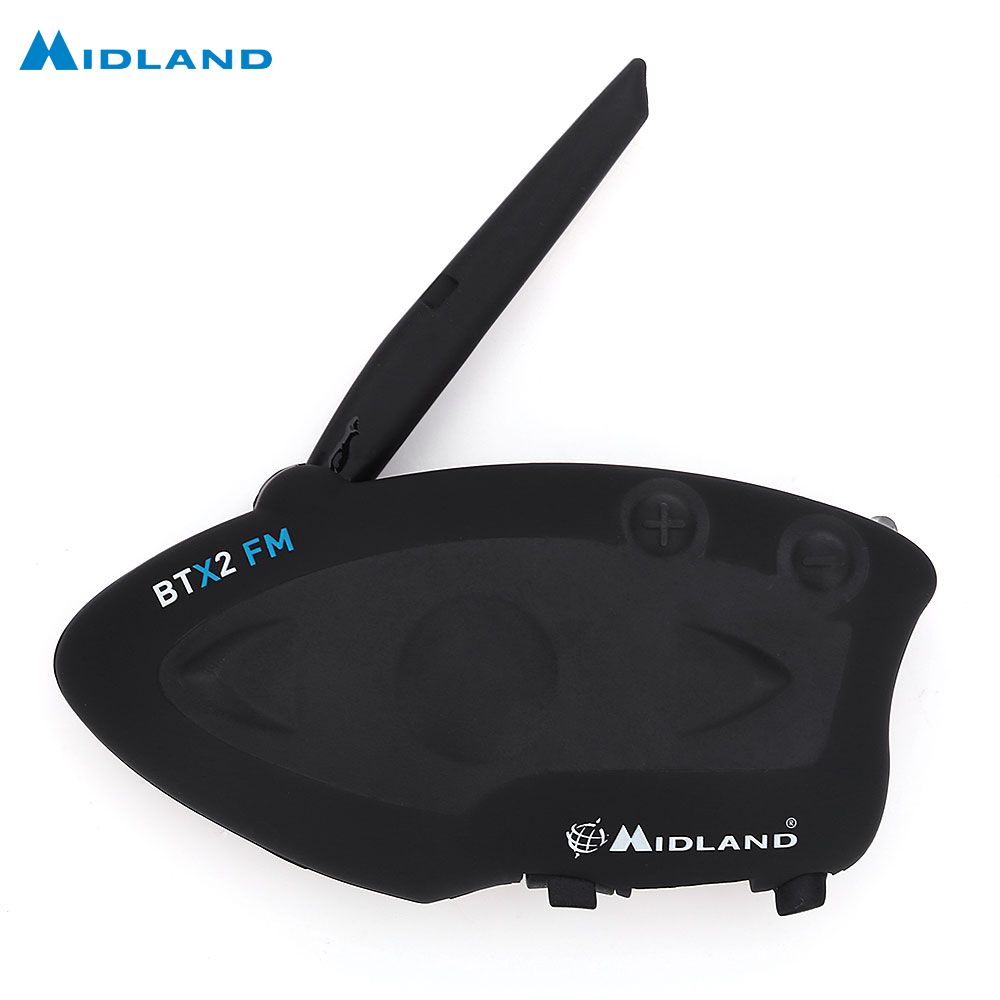 MIDLAND BTX2 FM Motorcycle Bluetooth Intercom Talking Distance 800M Multi-User Inter-Phone Connect At Most 4 People