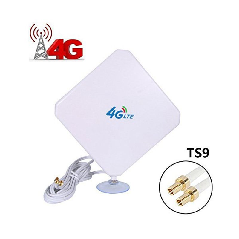 Universal Mobile Signal Booster Amplificateur Wifi Répéteur 4G LTE Antenne 35dBi Haute Gain Expander Réseau Routeurs TS9 Connecteur