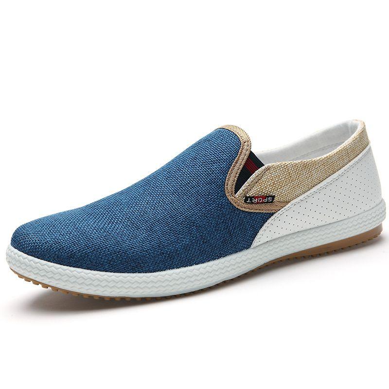 2017 Hombres de Moda de Verano Zapatos de Lona Transpirable Zapatos Casuales Hombres zapatillas Mocasines Ultraligeros Cómodos Zapatos Planos Perezoso