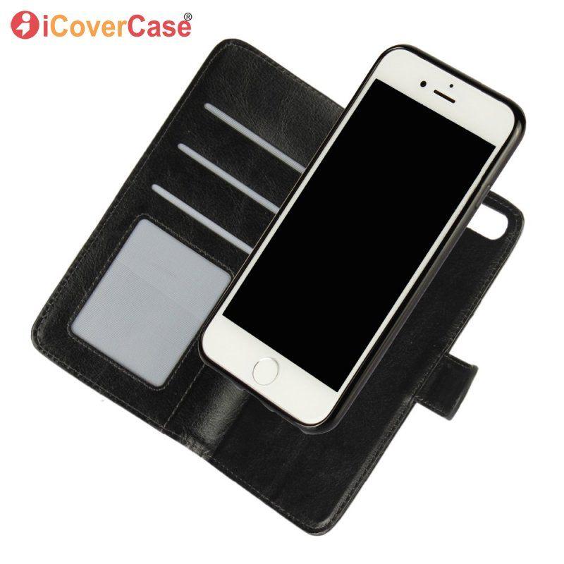 Pour iPhone 8 7 6 Plus SE Amovible Magnétique Cas Flip Portefeuille En Cuir Couverture 2 dans 1 Téléphone Sac Pour iPhone 8 Plus 7 6 S 5 S 5S Coque