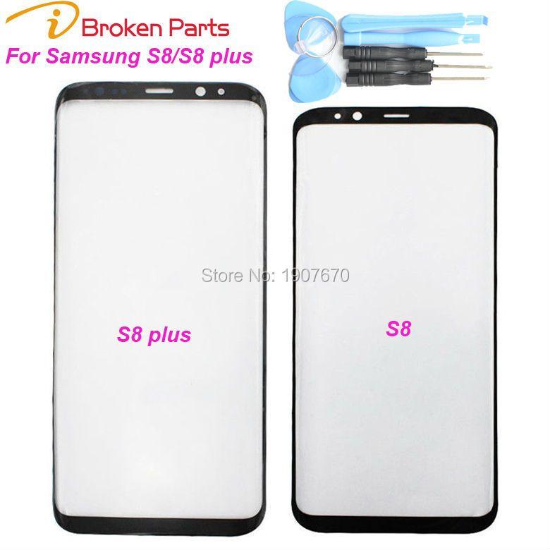 Nouveau Noir D'origine S8 plus Remplacement Avant Outer Écran Lentille En Verre Pour Samsung S8 Écran Tactile Numériseur + Outils