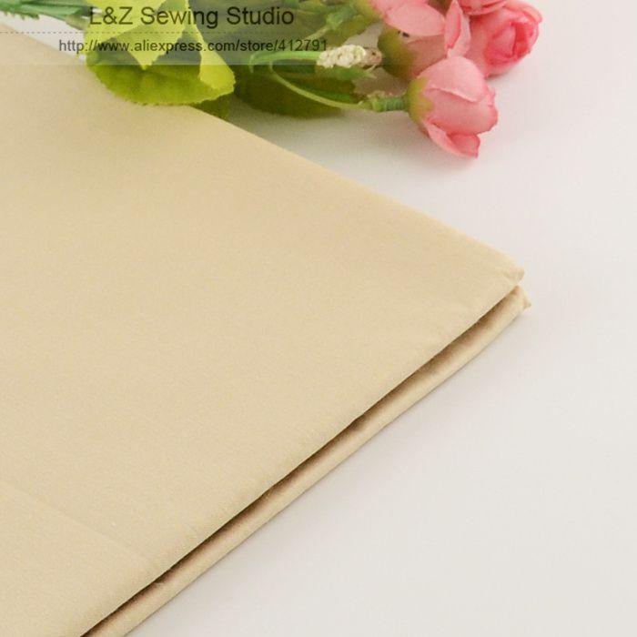 Booksew 50 cm x 160 cm/pièce Lumière Kaki Coton Tissu Pour Tilda Poupée Tissu Patchwork Quilting literie Maison Textile Réactive Teinture