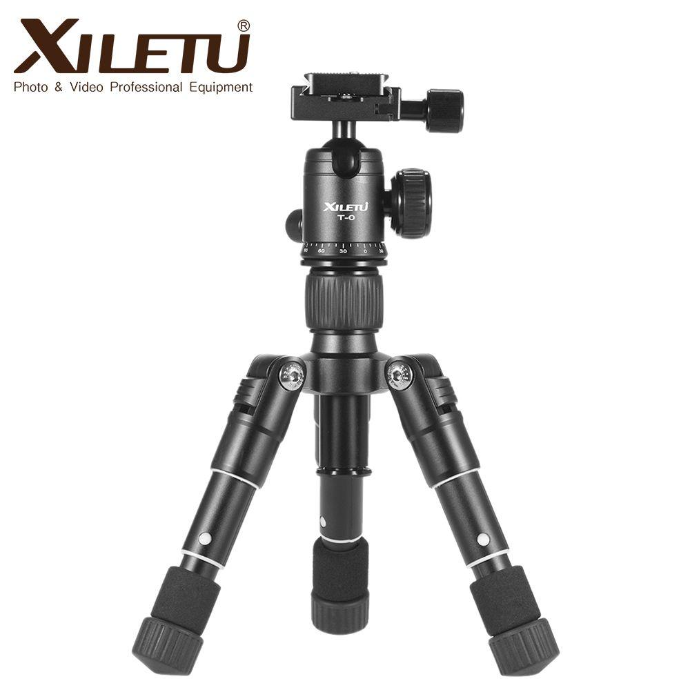 Livraison gratuite XILETU FM5-MINI trépied en aluminium Stable trépied de bureau et tête à bille pour appareil photo numérique caméra sans miroir téléphone intelligent