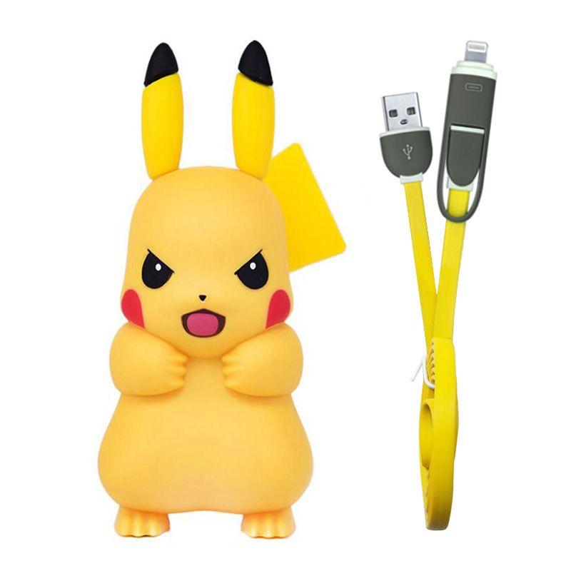 Pour chargeur iPhone, chargeur de téléphone USB Pikachue mignon pour iPhone 6 7 8 X Xs Xr chargeur adaptateur USB Mobile pour Samsung pour Xiaomi