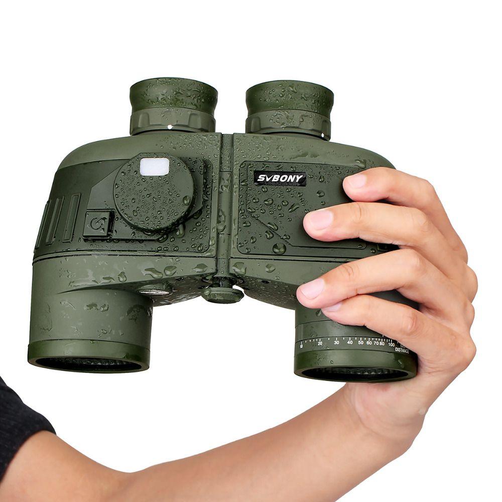 SVBONY 7x50 Binoculars SV27 Telescope Military Waterproof Floating Marine Power Binocular w/Internal Rangefinder & Compass F9307