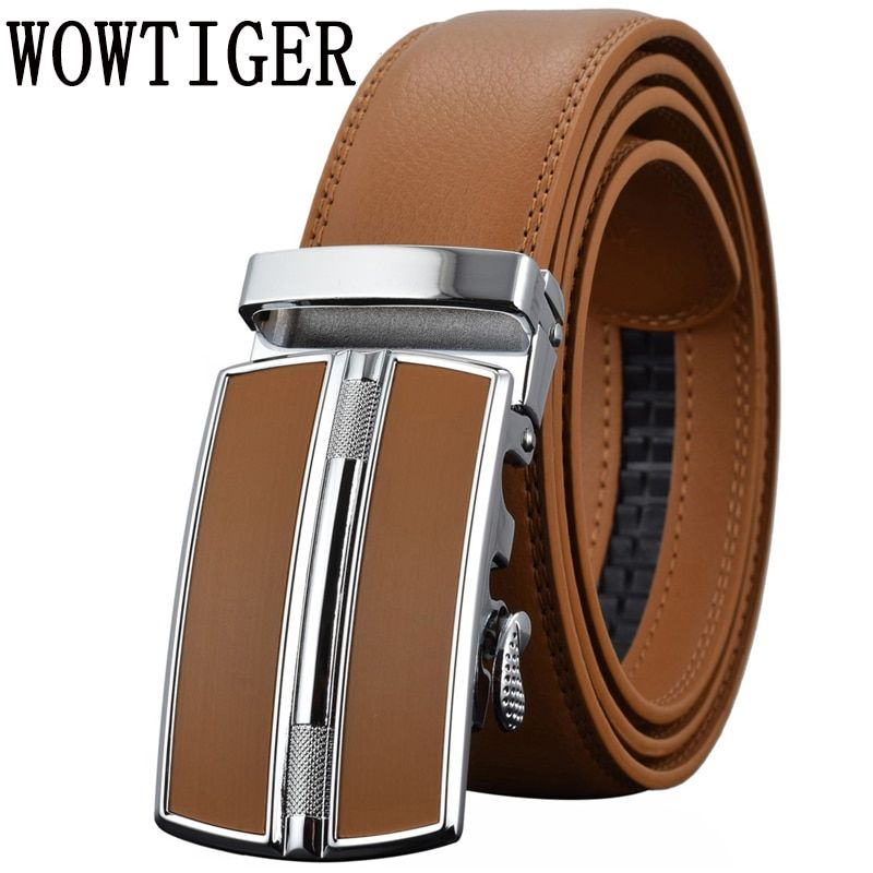 Men's Belts Luxury <font><b>Automatic</b></font> Buckle Genune Leather Strap Black Brown for Men 2017 Mens Belt Designers Brand High Quality