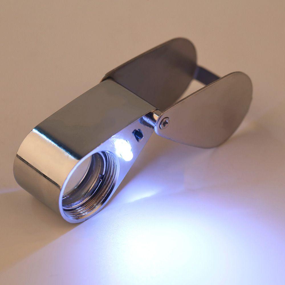 45x21mm Juwelier-lupen Lupe Lupe Drehen Mit LED-Licht Worldwide Shop