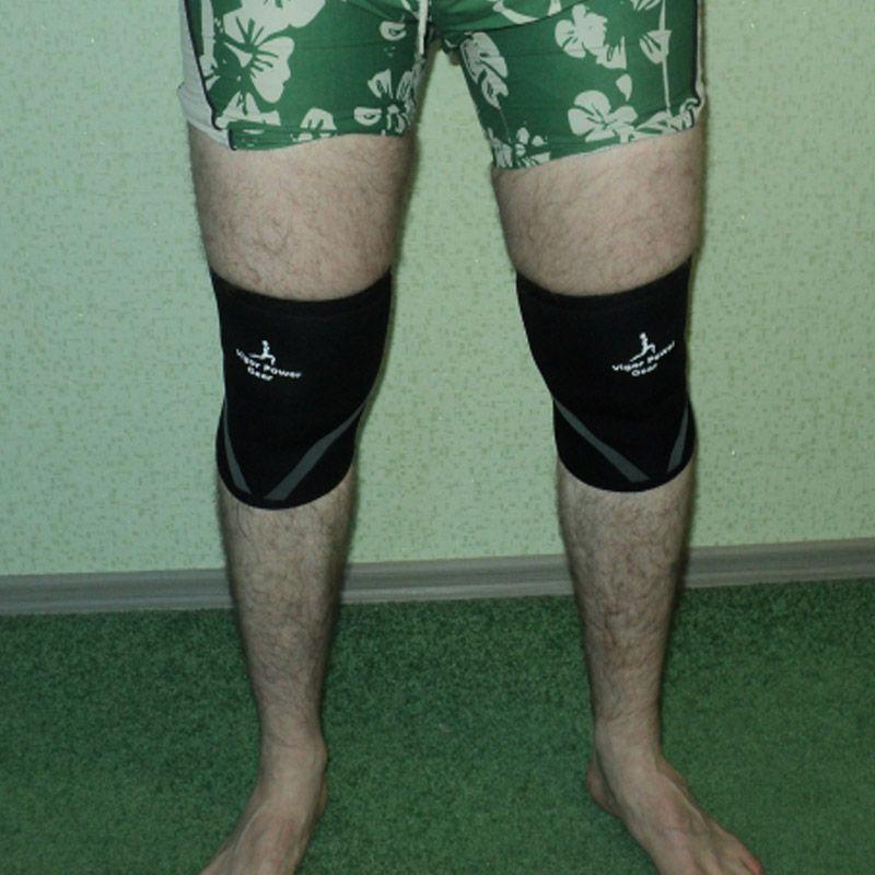Vigor Power Gear 7mm genouillère en néoprène rigide prend en charge les sports de puissance haltérophilie SBR fortes manches genoux pour fitness crossfit