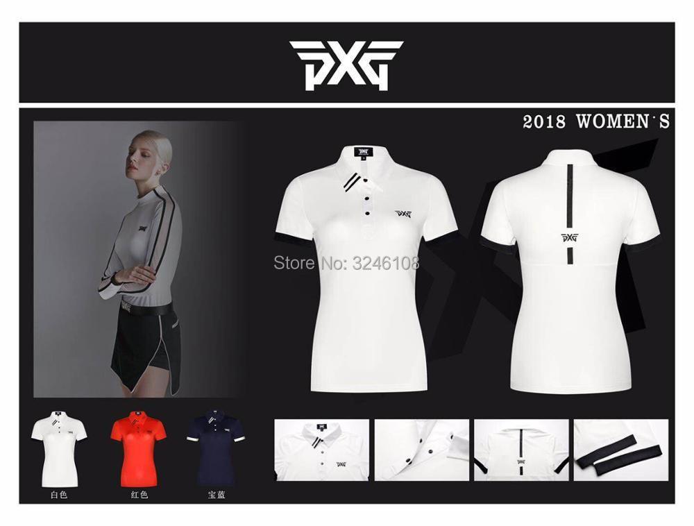 Frauen PXG Golf T-shirt Sportswear kurzarm Golf T-shirt 4 farben Golf kleidung S-XL in wahl Freizeit Golf shirt Freies verschiffen