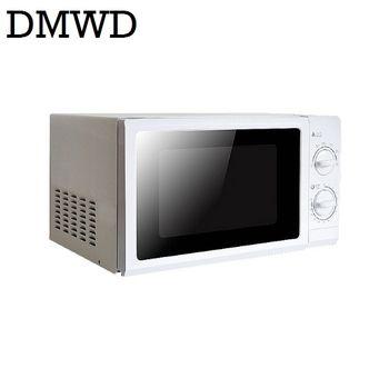 DMWD 700 W Ménage Micro-ondes Four Mini multifonctionnel Mécanique Minuterie Contrôle Micro-ondes Four 20L avec 30 minutes minuterie US EU