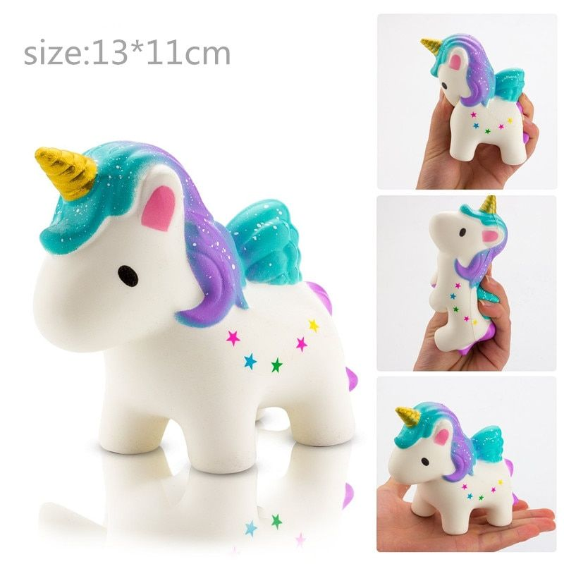 13CM big squishy slow rising jumbo	lanyard unicorn toys squeeze kawaii lanyard for keys groot phone strap wanna one