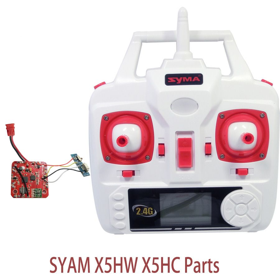 Syma X5HW X5HC Set High Mode PCB Board Receiver And Transmitter Remote Controller Spare Parts For X5HW RC Helicopters Drone