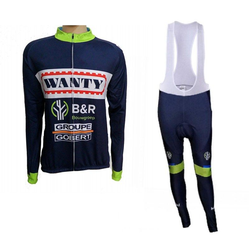 winter fleece 2017 pro team wanty mens Cycling jerseys long sleeve warmer bike clothing MTB Ropa Ciclismo Bicycle maillot