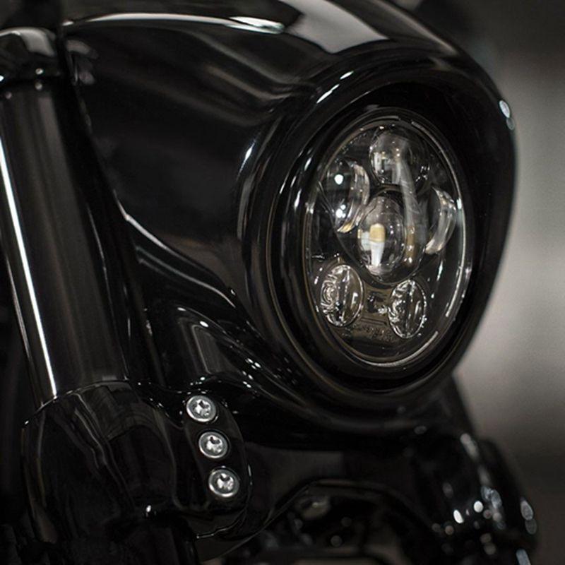 Fit for Harley Sportster, Iron 883, Dyna, Street Bob FXDB 45w 5-3/4 5.75 '' inch black Daymaker Projector LED Headlight Bulbs