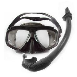 Top peralatan diving hitam dilipat silikon diving snorkeling scuba diving set Penuh volume rendah menyelam masker lensa Miopia snorkeling masker