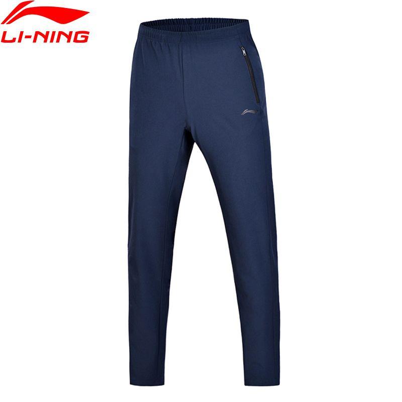 Li Ning 2018 Männer Ausbildung Wesentliche Trainingshose Regular Fit Woven Li Ning Komfort Fitness Sport Hosen Hosen AYKN007