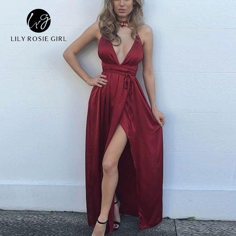 2018 Summer Off Shoulder Sexy Deep V Neck Beach Style Women Dress Strap Backless Maxi Long Evening Party Dresses Vestidos