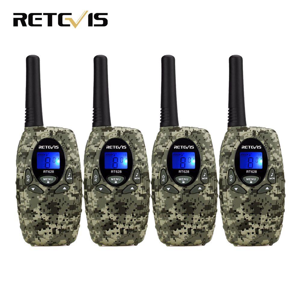 4 pcs Retevis RT628 Mini Enfants Radio Talkie Walkie Enfants 0.5 W VOX PTT LCD PMR Fréquence Portable Ham Radio Hf Émetteur-Récepteur meilleur