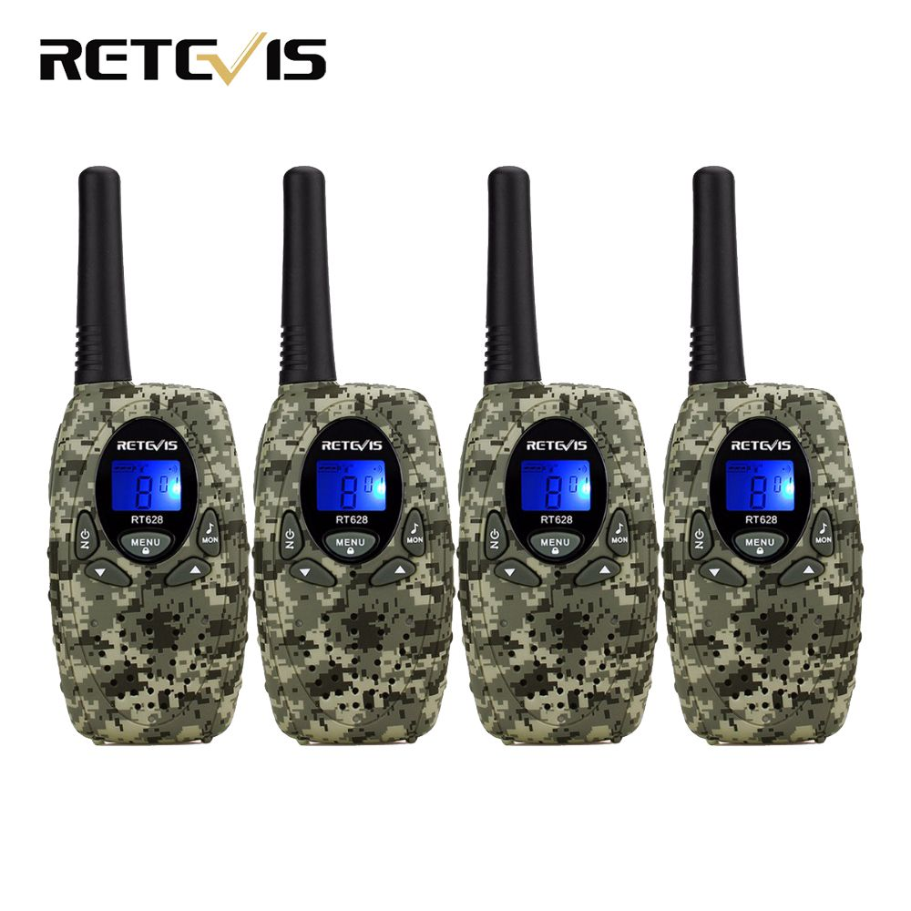 4pcs Retevis RT628 Mini Kids Radio Walkie Talkie Children 0.5W VOX PTT LCD PMR Frequency Portable Ham Radio Hf Transceiver Best