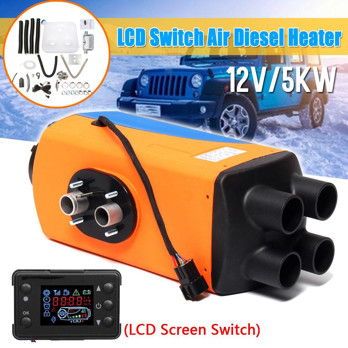 12V/24V 3KW/5KW Air Diesels Heater Parking Heater Diesels Air Heater With Remote LCD Digital Display for Boat Motorhome Trailer