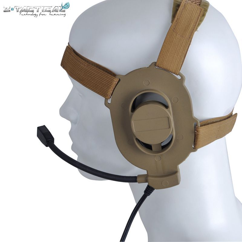 Z-tactical Adjustable Harness Military Airsoft Paintball Hunting Sniper Bowman Elite II Headset Z 027 Fit All PTT Plug