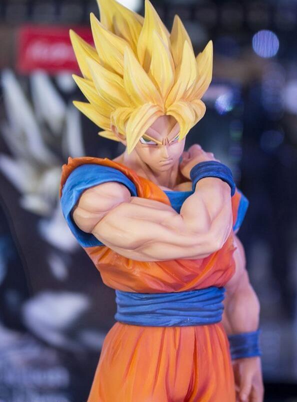 22 cm Dragon Ball Z Goku figurine PVC Collection modèle jouets brinquedos pour cadeau de noël ont la base