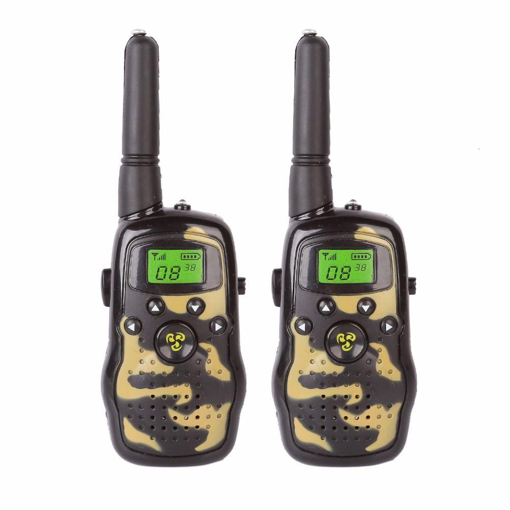 2x 73hams K-3 Handheld Walkie Talkie Kids Two Way Radio Flash Light Camouflage