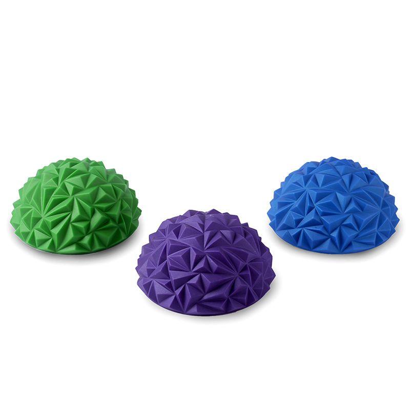 1 pièces enfants sens formation Yoga demi-balle Cube d'eau motif diamant ananas balle pied Massage balle jouet Fitness balles