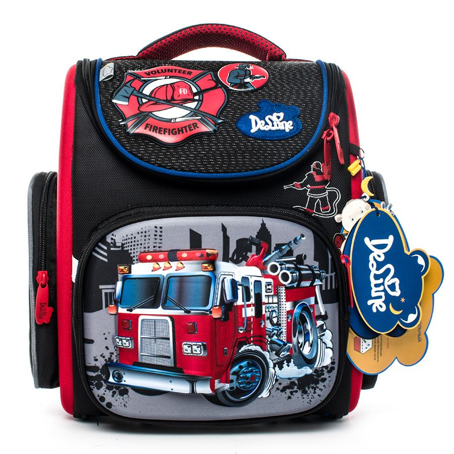 delune Brand 1-3 grade orthopedic school bags satchel for boys cars EVA Folded Children Primary School Backpack Mochila Infantil